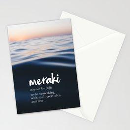 Meraki Word Nerd Definition - Purple Watercolor Stationery Cards