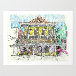 Maple Leaf Bar Illustration Art Print