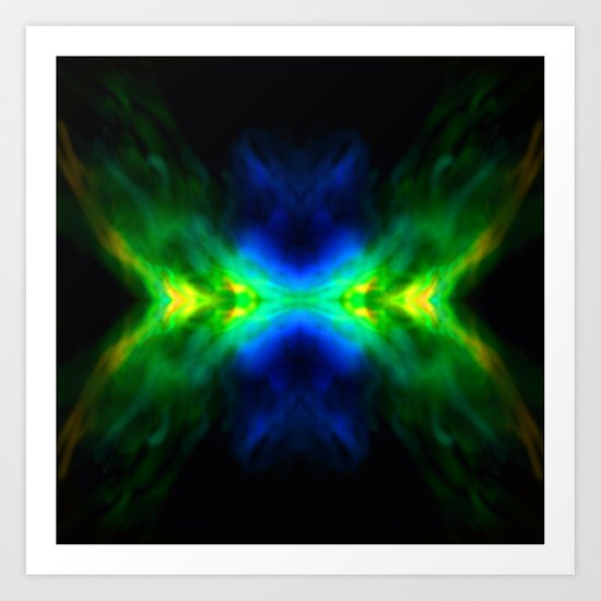 Electric Butterfly Art Print