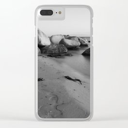Stones in the sea 3 Clear iPhone Case