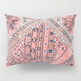 Light Pink Wildflower Sunshine III // 18th Century Colorful Pinkish Dusty Blue Gray Positive Pattern Pillow Sham