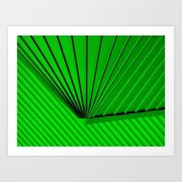 Lime Lines Study Art Print