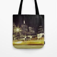Melbourne Taxi Blur Tote Bag