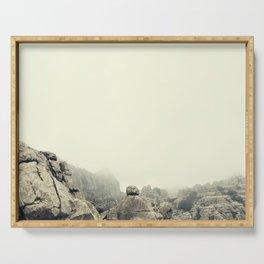 Misty rocks Serving Tray