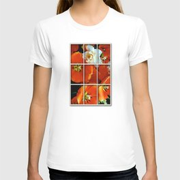 Orange and White Flowers T-shirt