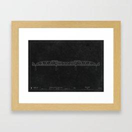 Broadway Bridge — Darkprint Framed Art Print