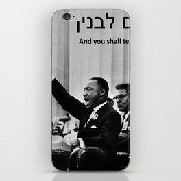 Civil Rights and Jewish Wisdom Mashup iPhone Skin