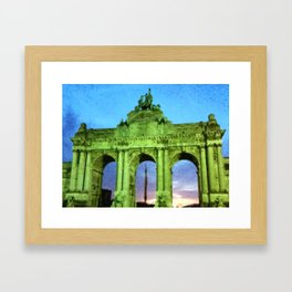 Cinquantenaire, Brussels Framed Art Print