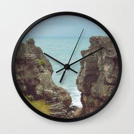 Pancake Rocks in New Zealand Wall Clock