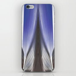 Architectural abstract of a metal clad building looming in symmetry. iPhone Skin