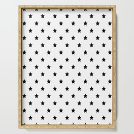 Black and white Star Pattern Serving Tray