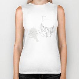 Boba Fett  - single line art Biker Tank