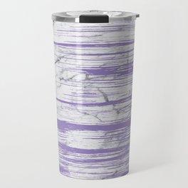 Modern abstract violet watercolor brushstrokes marble pattern Travel Mug
