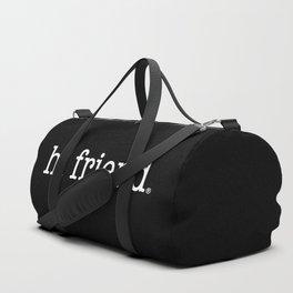 hi friend b/w Duffle Bag