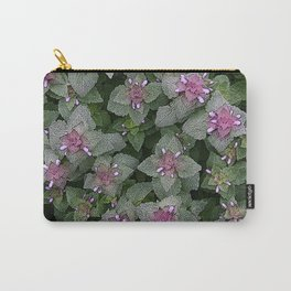 WILD SALVIA MAUVE AND GRAY GREEN Carry-All Pouch
