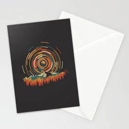 The Geometry of Sunrise Stationery Cards