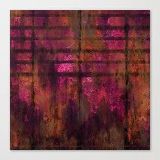 Lined Rainbow Rusted Metal Look Canvas Print