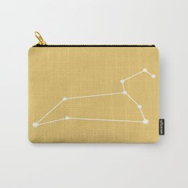 Leo Zodiac Constellation - Warm Yellow Carry-All Pouch