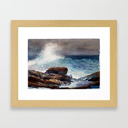 Winslow Homer Incoming Tide, Scarboro Maine Framed Art Print