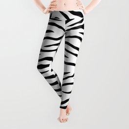 Black and White Tiger Stripes Leggings