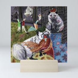 Prince and Princess Fox Mini Art Print