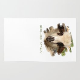 Rebel Sheep Say Moo Rug