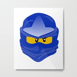Ninjago face Jay  Metal Print