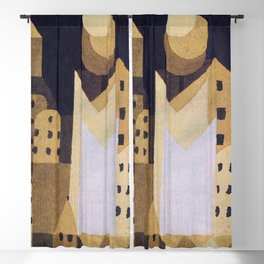 "Paul Klee ""Cold City"" Blackout Curtain"