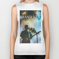 brand new Biker Tanks featuring Brand New by ICANWASHAWAY