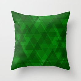 Bright green triangles in intersection and overlay. Throw Pillow