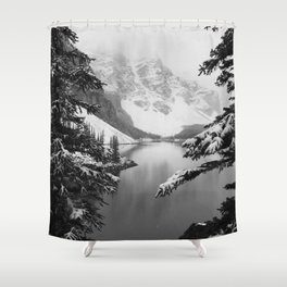 The View (Black and White) Shower Curtain