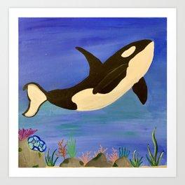 Blissful Whale Art Print