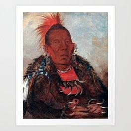 Wah-ro-née-sah, The Surrounder by George Catlin Art Print