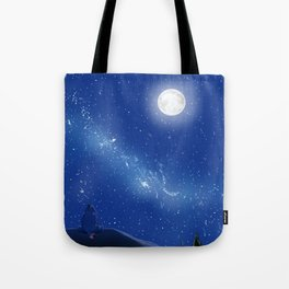 Eeyore-A Lonely Night Tote Bag