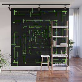 Banners with green electronic cards. Wall Mural