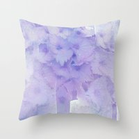 hydrangea Throw Pillows featuring hydrangea by clemm