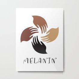 Melanin Shades Black Pride Hands African American Woman Black Lives Matter Metal Print