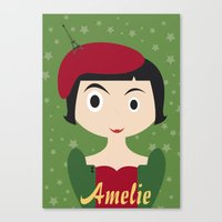 amelie Canvas Prints featuring Amelie by Creo tu mundo