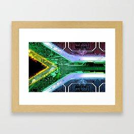 circuit board South Africa (Flag) Framed Art Print