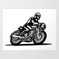 motorbike Art Prints featuring Motorbike by David Chestnutt