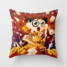 Alice in Wonderland- The King of Hearts Throw Pillow