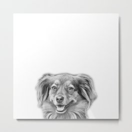 Happy dog face Metal Print