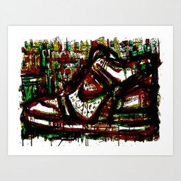Green High Thick Kick Art Print