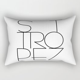 St. Tropez, jetset holidayplace in the South of France at the Mediterranean Rectangular Pillow
