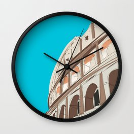 Rome, Italy Colosseum / Roma Il Colosseo, Italia Travel Poster Wall Clock
