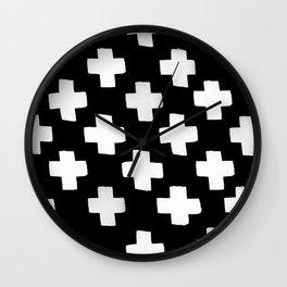 Criss Cross Pattern Wall Clock