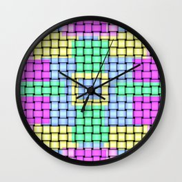 Beautiful Pastel Weave Texture Wall Clock