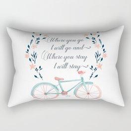 Where you Go, I Will Go Rectangular Pillow