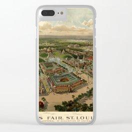 St. Louis Worlds Fair 1904 Clear iPhone Case