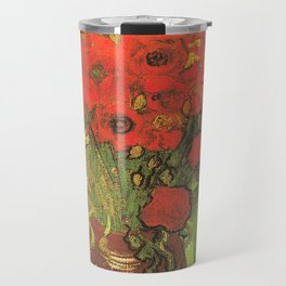 Still Life: Red Poppies and Daisies by Vincent van Gogh Travel Mug